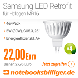 Samsung LED Retrofit für Halogen MR16